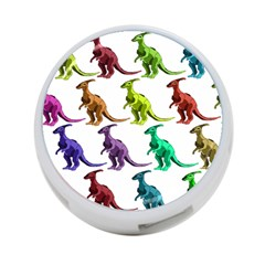 Multicolor Dinosaur Background 4 Port Usb Hub (one Side) by Amaryn4rt