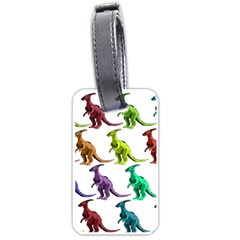 Multicolor Dinosaur Background Luggage Tags (one Side)  by Amaryn4rt