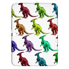 Multicolor Dinosaur Background Samsung Galaxy Tab 3 (10 1 ) P5200 Hardshell Case  by Amaryn4rt