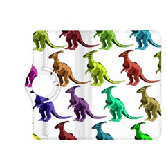 Multicolor Dinosaur Background Kindle Fire Hdx 8 9  Flip 360 Case by Amaryn4rt