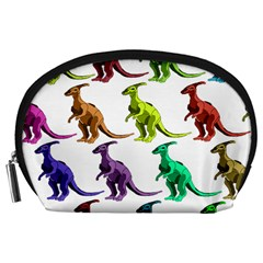 Multicolor Dinosaur Background Accessory Pouches (large)  by Amaryn4rt