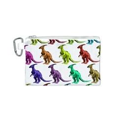 Multicolor Dinosaur Background Canvas Cosmetic Bag (s) by Amaryn4rt