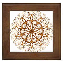 Golden Filigree Flake On White Framed Tiles by Amaryn4rt