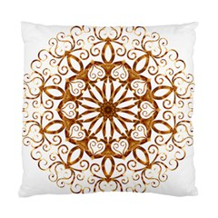Golden Filigree Flake On White Standard Cushion Case (one Side) by Amaryn4rt
