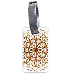 Golden Filigree Flake On White Luggage Tags (one Side)  by Amaryn4rt