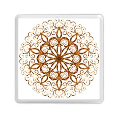 Golden Filigree Flake On White Memory Card Reader (square)  by Amaryn4rt