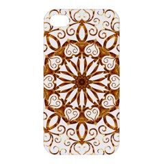 Golden Filigree Flake On White Apple Iphone 4/4s Hardshell Case by Amaryn4rt