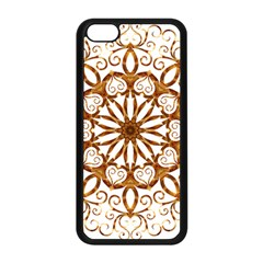 Golden Filigree Flake On White Apple Iphone 5c Seamless Case (black) by Amaryn4rt