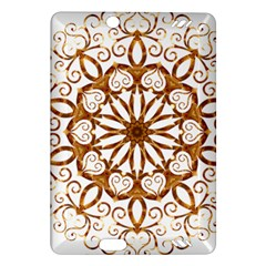 Golden Filigree Flake On White Amazon Kindle Fire Hd (2013) Hardshell Case by Amaryn4rt