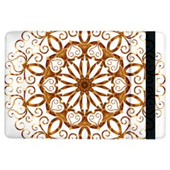 Golden Filigree Flake On White Ipad Air Flip by Amaryn4rt