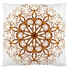 Golden Filigree Flake On White Standard Flano Cushion Case (two Sides) by Amaryn4rt