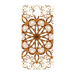 Golden Filigree Flake On White Samsung Galaxy Alpha Hardshell Back Case by Amaryn4rt