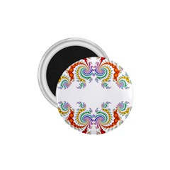 Fractal Kaleidoscope Of A Dragon Head 1 75  Magnets by Amaryn4rt