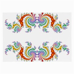 Fractal Kaleidoscope Of A Dragon Head Large Glasses Cloth by Amaryn4rt