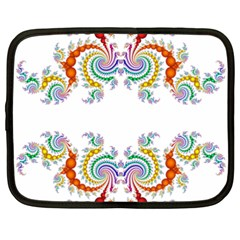 Fractal Kaleidoscope Of A Dragon Head Netbook Case (xxl)