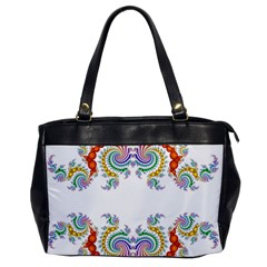 Fractal Kaleidoscope Of A Dragon Head Office Handbags by Amaryn4rt