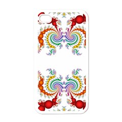 Fractal Kaleidoscope Of A Dragon Head Apple Iphone 4 Case (white) by Amaryn4rt