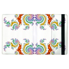 Fractal Kaleidoscope Of A Dragon Head Apple Ipad 2 Flip Case by Amaryn4rt