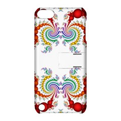 Fractal Kaleidoscope Of A Dragon Head Apple Ipod Touch 5 Hardshell Case With Stand by Amaryn4rt