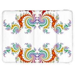 Fractal Kaleidoscope Of A Dragon Head Samsung Galaxy Tab 7  P1000 Flip Case