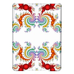 Fractal Kaleidoscope Of A Dragon Head Ipad Air Hardshell Cases by Amaryn4rt
