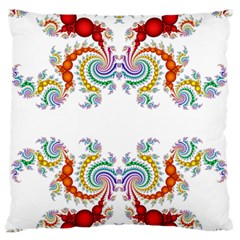 Fractal Kaleidoscope Of A Dragon Head Large Flano Cushion Case (two Sides) by Amaryn4rt