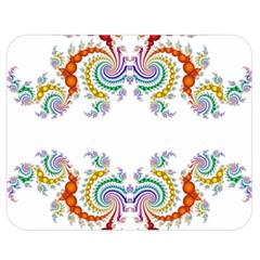 Fractal Kaleidoscope Of A Dragon Head Double Sided Flano Blanket (medium)  by Amaryn4rt