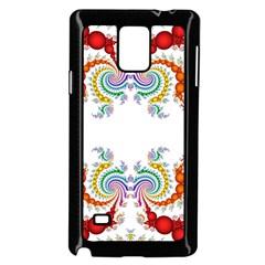 Fractal Kaleidoscope Of A Dragon Head Samsung Galaxy Note 4 Case (black) by Amaryn4rt