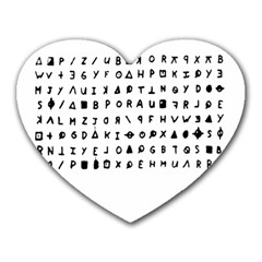 Zodiac Killer  Heart Mousepads by Valentinaart