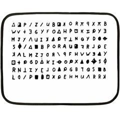 Zodiac Killer  Double Sided Fleece Blanket (mini)  by Valentinaart