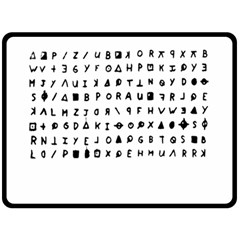 Zodiac Killer  Fleece Blanket (large)  by Valentinaart
