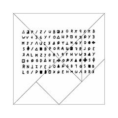 Zodiac Killer  Acrylic Tangram Puzzle (6  X 6 ) by Valentinaart