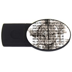 Zodiac Killer  Usb Flash Drive Oval (4 Gb) by Valentinaart