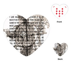 Zodiac Killer  Playing Cards (heart)  by Valentinaart