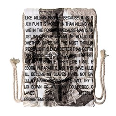 Zodiac Killer  Drawstring Bag (large) by Valentinaart