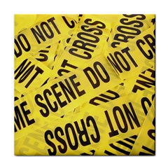 Crime Scene Tile Coasters by Valentinaart