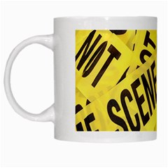 Crime Scene White Mugs by Valentinaart
