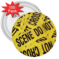 Crime Scene 3  Buttons (100 Pack)  by Valentinaart
