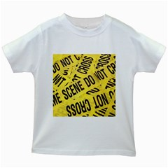 Crime Scene Kids White T Shirts by Valentinaart