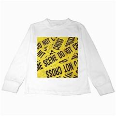 Crime Scene Kids Long Sleeve T Shirts by Valentinaart