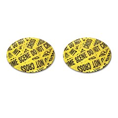Crime Scene Cufflinks (oval) by Valentinaart