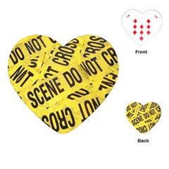 Crime Scene Playing Cards (heart)  by Valentinaart