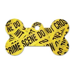 Crime Scene Dog Tag Bone (two Sides) by Valentinaart