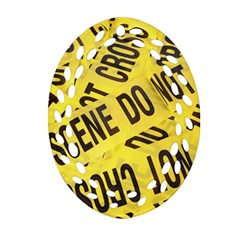 Crime Scene Ornament (oval Filigree) by Valentinaart