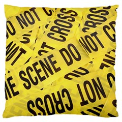 Crime Scene Large Flano Cushion Case (one Side) by Valentinaart