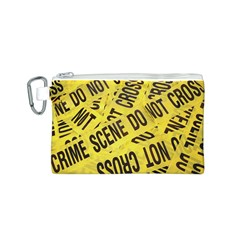 Crime Scene Canvas Cosmetic Bag (s) by Valentinaart