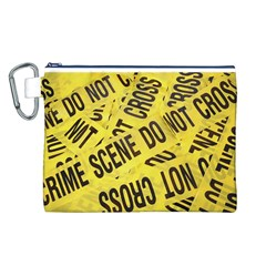 Crime Scene Canvas Cosmetic Bag (l) by Valentinaart
