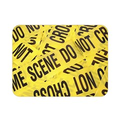 Crime Scene Double Sided Flano Blanket (mini)  by Valentinaart