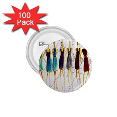 Fashion Sketch  1 75  Buttons (100 Pack)  by Valentinaart