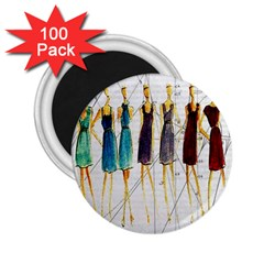 Fashion Sketch  2 25  Magnets (100 Pack)  by Valentinaart